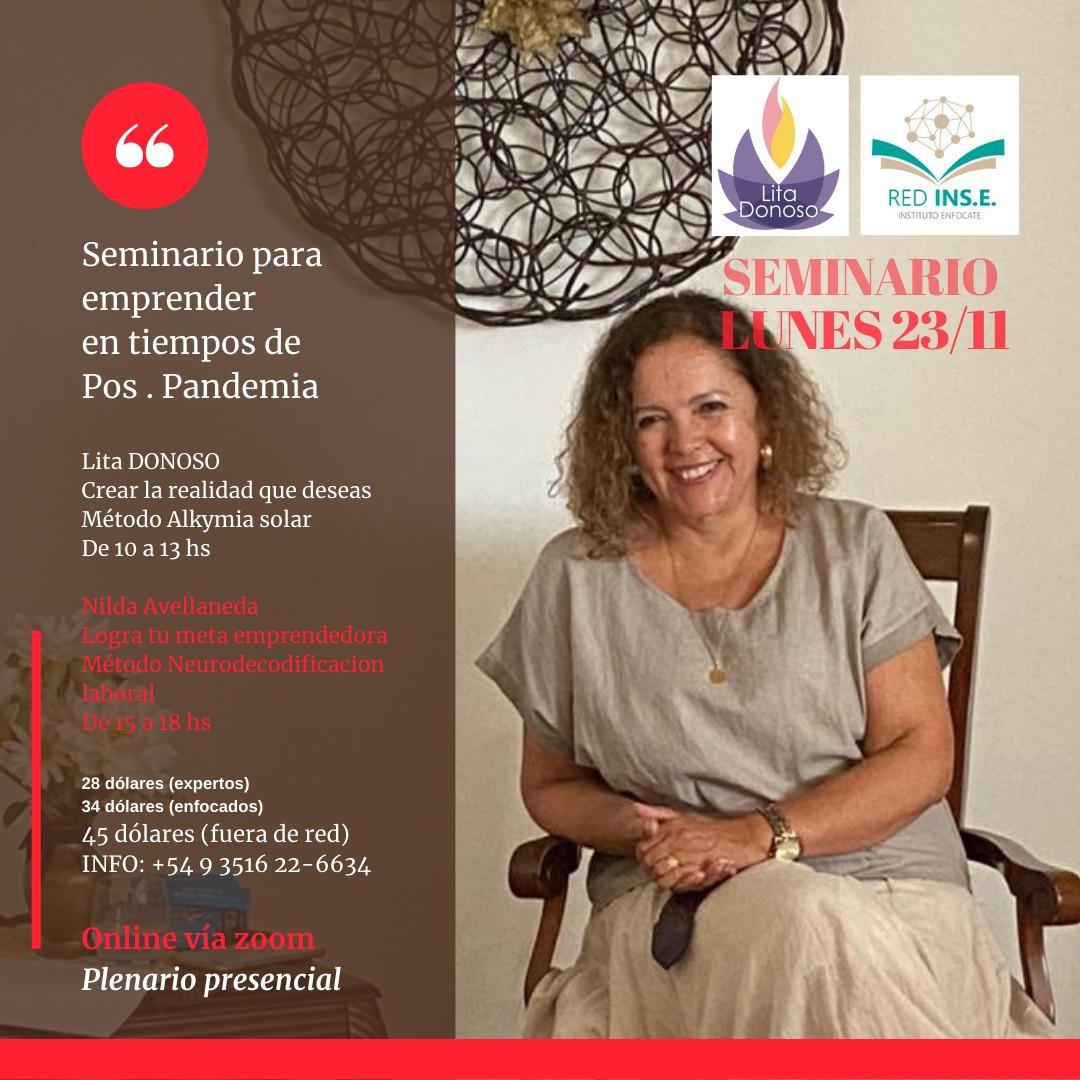 Seminario para emprender en tiempos de pos pandemia 23/11 de 15 a 18hs